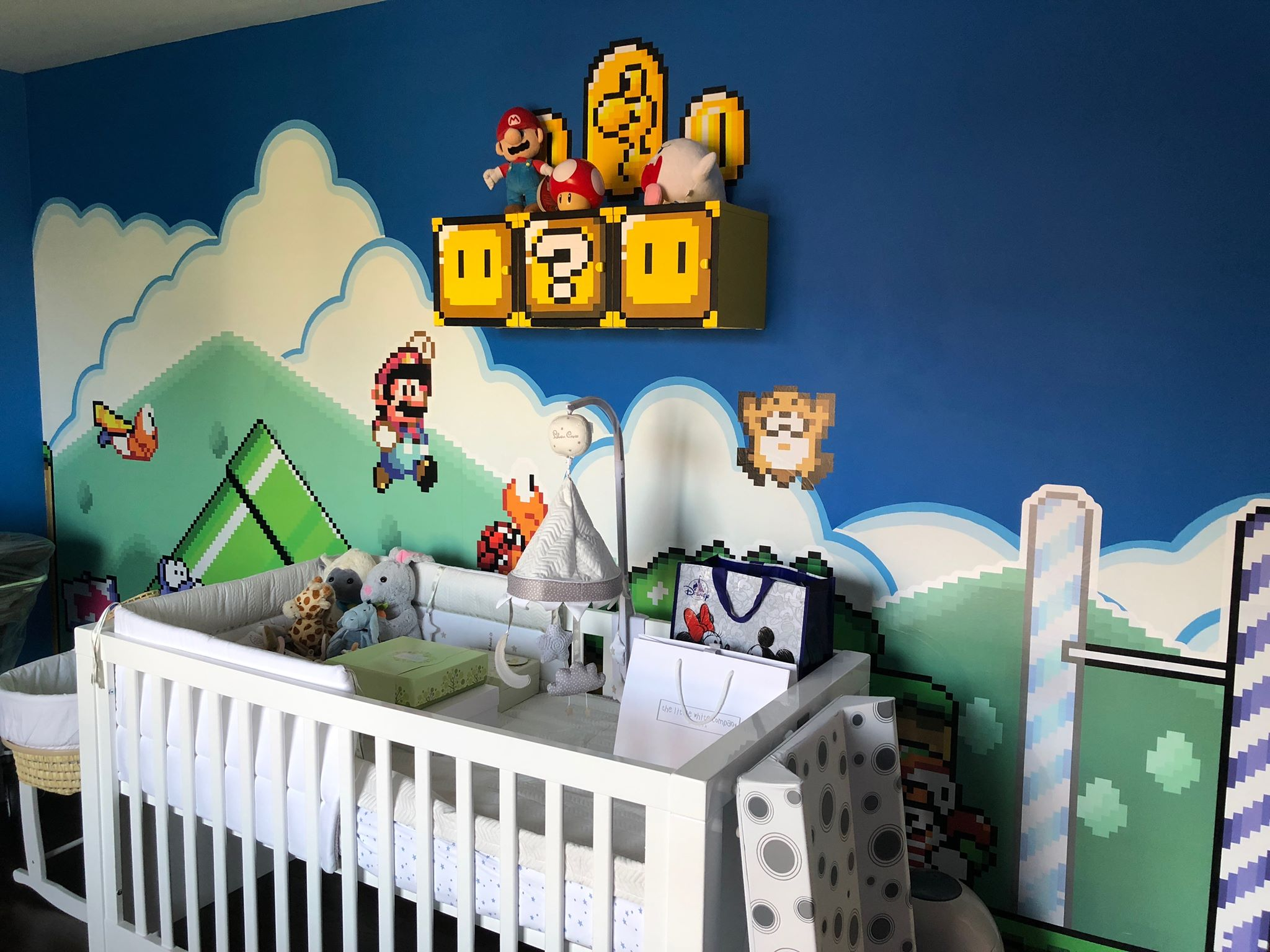 I made a Super Mario Themed Nursery